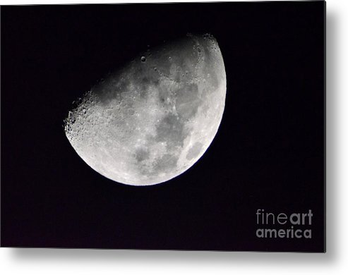Half Moon Metal Print featuring the photograph Half Moon by Christopher Shellhammer
