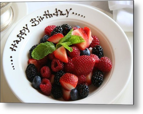 Fruit Metal Print featuring the photograph Happy Birthday by Melanie Beasley
