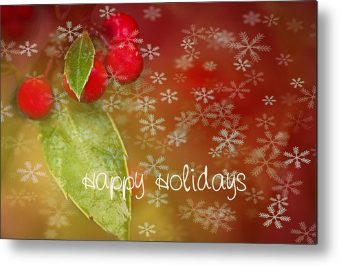 Christmas Metal Print featuring the photograph Happy Holidays by Rebecca Cozart