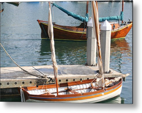 Boats Metal Print featuring the digital art Harbor Days by Justin Hiatt