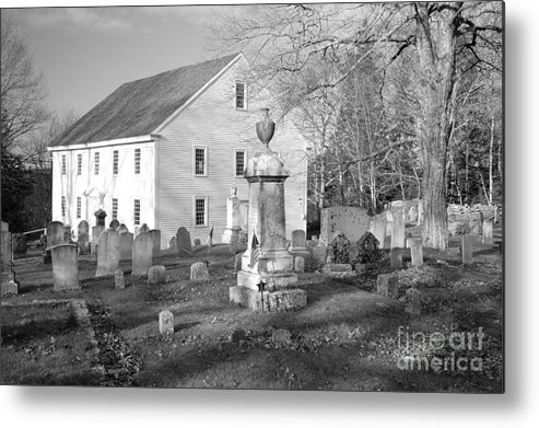 Maine Metal Print featuring the photograph Harrington Meetinghouse -bristol Me Usa by Erin Paul Donovan