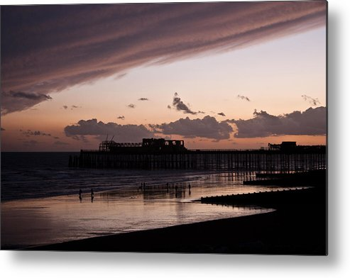 Hastings Pier Metal Print featuring the photograph Hastings Pier by Dawn OConnor