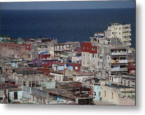 Street Metal Print featuring the photograph Havana, Cuba by Brigitte Mueller