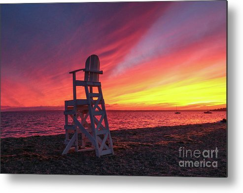 Sunset Metal Print featuring the photograph Have A Seat by Heidi Piccerelli