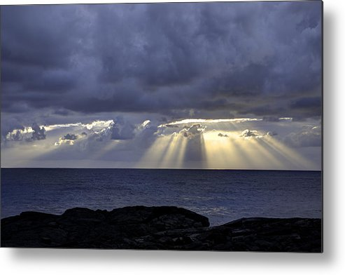 Sunrise Metal Print featuring the photograph Hawaiian Sunrise by Mike Herdering