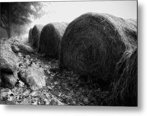 Hay Metal Print featuring the photograph Hay Bales Paxton Ma by Richard Danek