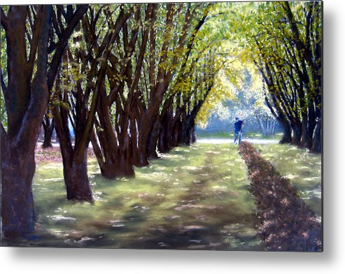Orchard Metal Print featuring the painting Hazel Green by Carl Capps