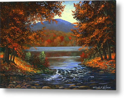 Landscape Metal Print featuring the painting Headwaters by Frank Wilson
