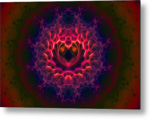 Fractal Metal Print featuring the digital art Heart Of Darkness by Lyle Hatch