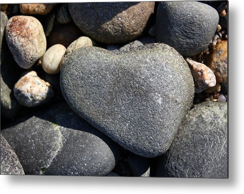 Heart Metal Print featuring the photograph Heart Rock by Annie Babineau