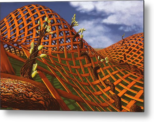 Architecture Metal Print featuring the painting Hedera Ferrugo by Patricia Van Lubeck