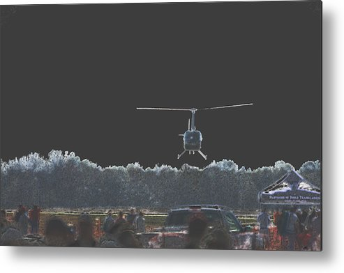 Military Metal Print featuring the photograph Helicopter Lift by Karol Livote