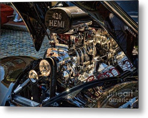 Hemi Metal Print featuring the photograph Hemi Engine by Edward Sobuta
