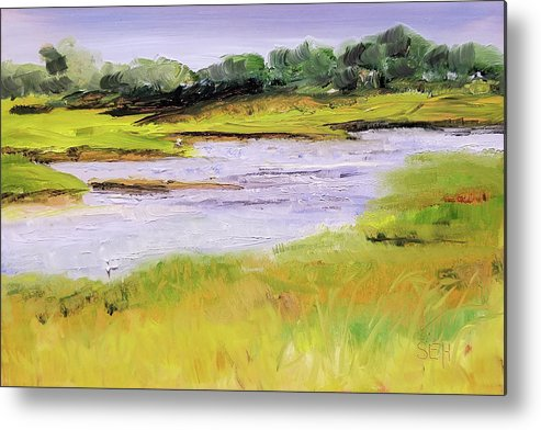 Ogunquit Metal Print featuring the painting Her River Dream by Susan Hanna