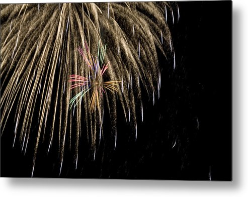 Fireworks Metal Print featuring the photograph Hidden Colors by Kelly Schuler