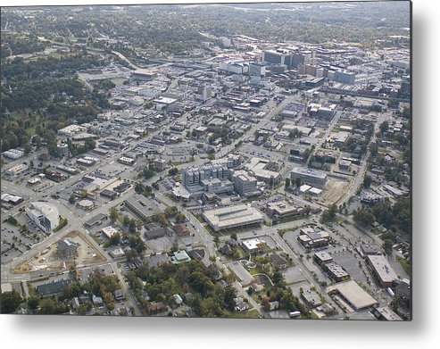 High Point Metal Print featuring the photograph High Point Nc Aerial by Robert Ponzoni