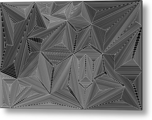 Digital Metal Print featuring the digital art Highs And Lows by Christopher Rowlands