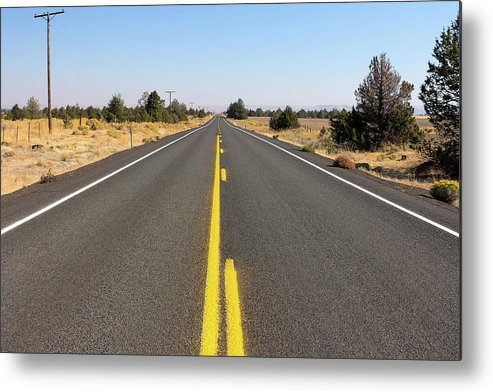 Highway Metal Print featuring the photograph Highway In Central Oregon by David Gn