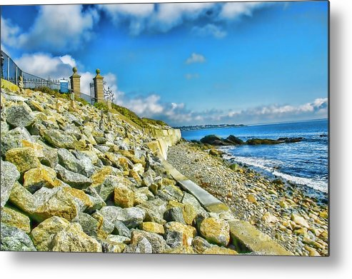 Mansions Tidal Barriers Local Architecture Metal Print featuring the photograph Hill Of Rocks by Rick Bragan