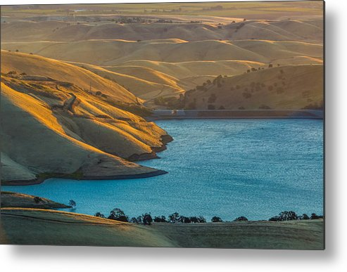 Landscape Metal Print featuring the photograph Hills At Sunrise by Marc Crumpler