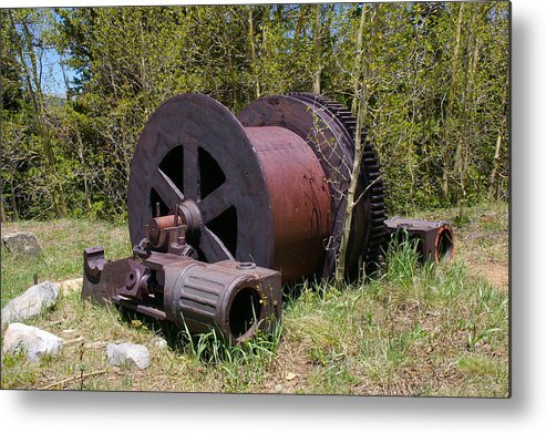Historic Metal Print featuring the photograph Historic Caribou Mine by Cynthia Cox Cottam