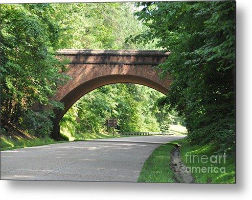 Arch Bridge Metal Print featuring the photograph Historical Stone Arched Bridge by John Black