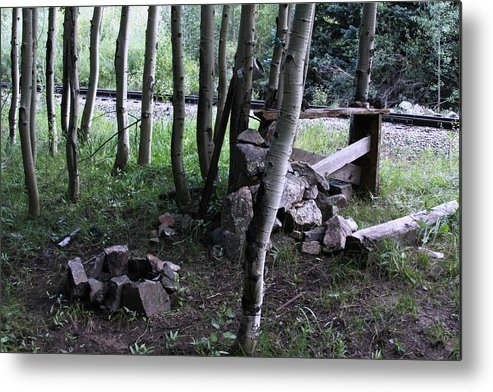 Campfire Metal Print featuring the photograph Hobo Camp In Animas Canyon by Cynthia Cox Cottam
