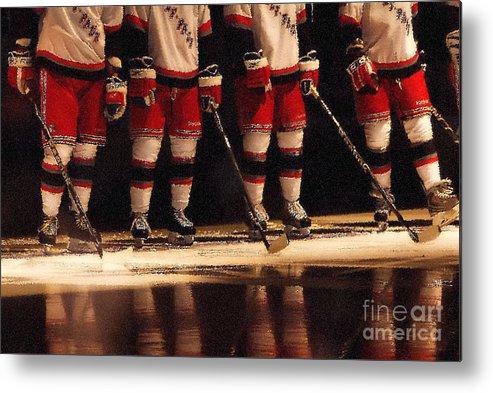 Hockey Metal Print featuring the photograph Hockey Reflection by Karol Livote