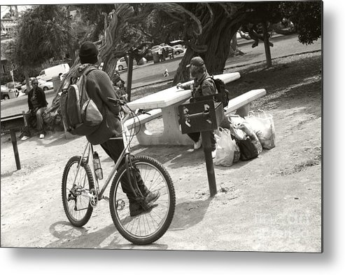 Homeless Metal Print featuring the photograph Holding Court by Heather Kirk