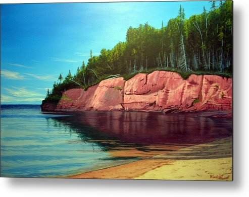 Landscape Metal Print featuring the painting Holland Cove by Rick Gallant