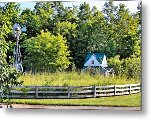Landscape Metal Print featuring the photograph Small Farm Homestead by Gary Wilson