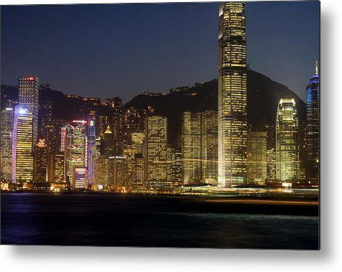 City Metal Print featuring the photograph Hong Kong Harbor December 1 by Brad Rickerby