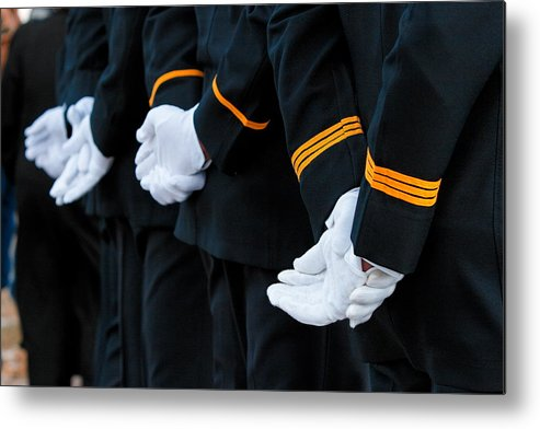 Military Metal Print featuring the photograph Honor Guard by Lone Dakota Photography