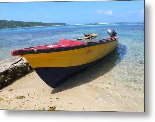 Boat Metal Print featuring the photograph Hope by Francine Gourguechon