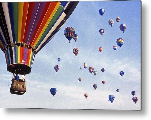 Hot Air Balloon Metal Print featuring the photograph Hot Air Balloon - 12 by Randy Muir