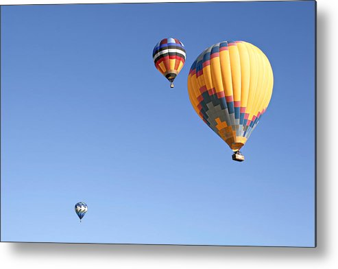 Balloons Metal Print featuring the photograph Hot Air Balloon Ride A Special Adventure by Christine Till