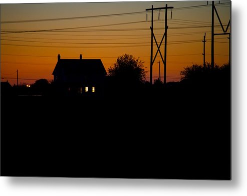 Sunset Metal Print featuring the photograph House At Sunset by Paul Kloschinsky