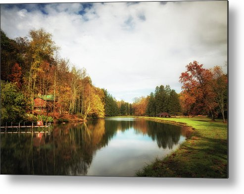 House Metal Print featuring the photograph House On The Lake II by Tom Mc Nemar