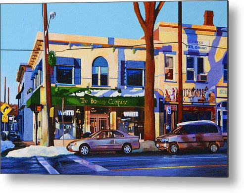 Huntington Metal Print featuring the painting Huntington Village by John Tartaglione