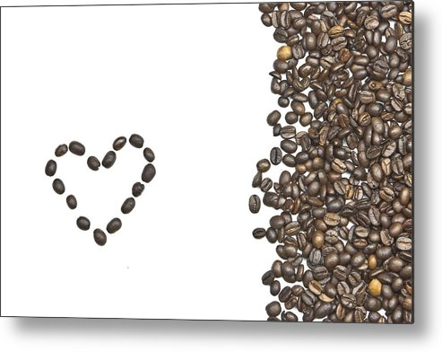 Coffee Beans Metal Print featuring the photograph I Love Coffee by Joana Kruse
