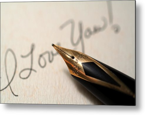 Love Metal Print featuring the photograph I Love You by June Marie Sobrito