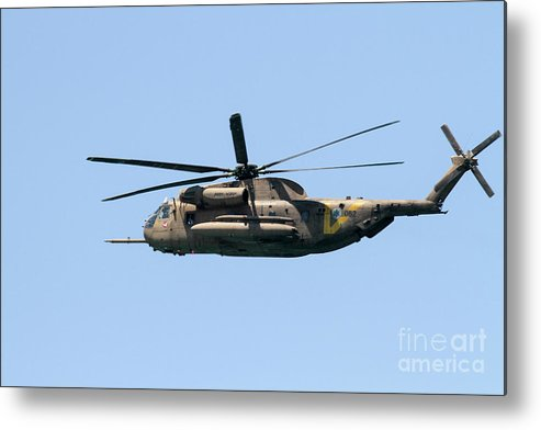 Air Rescue Metal Print featuring the photograph Iaf Sikorsky Ch-53 Helicopters by Vladi Alon