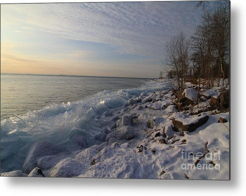 Ice Shove Metal Print featuring the photograph Ice 2018 # 2 by Rick Rauzi
