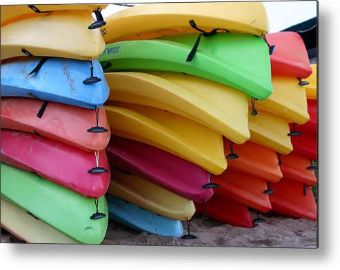 Beach Metal Print featuring the photograph Idle Fleet by Sam Smyth