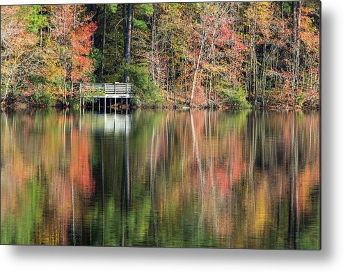 Autumn Metal Print featuring the photograph Idyllic Autumn Reflections by Robert Anastasi