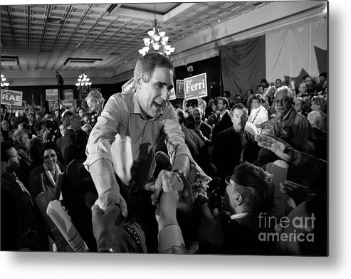 Canada Metal Print featuring the photograph Ignatieff And Chretien At Liberal Rally by David Wing