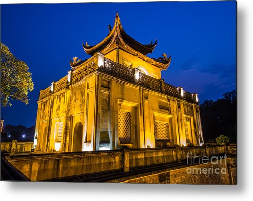 Long Metal Print featuring the photograph Imperial Citadel Of Hanoi by Dong Bui