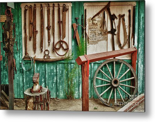 Hdr Metal Print featuring the photograph In Another Time by Sandra Bronstein