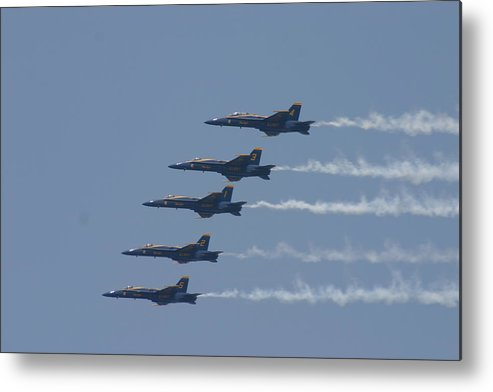 Blue Angels Metal Print featuring the photograph In Flight by Kevin Dunham
