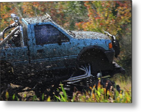 Mud Truck Metal Print featuring the photograph In Motion by Jamie Smith